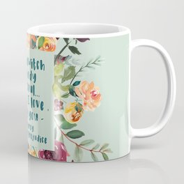 Pride and prejudice, you bewitch me florals Coffee Mug