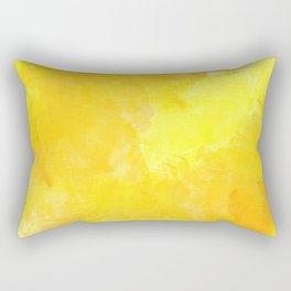 yellow watercolor Rectangular Pillow