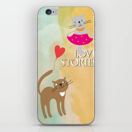 Cats - love stories iPhone Skin