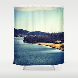 Austin In The Distance Shower Curtain
