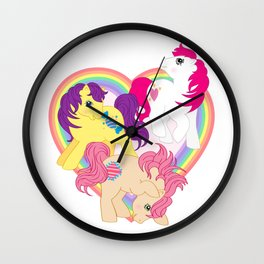 g1 my little pony Tales Characters Wall Clock