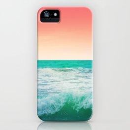 Aqua and Coral, 3 iPhone Case
