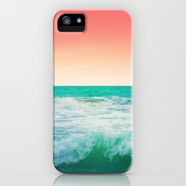 Aqua and Coral, 3 iPhone Case