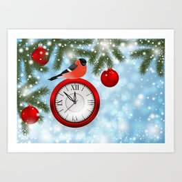 Christmas or New Year decoration Art Print