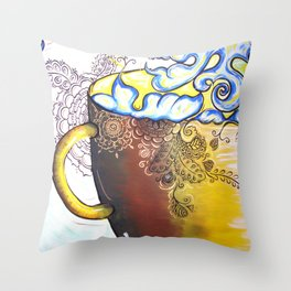 Coffee Cantina Throw Pillow