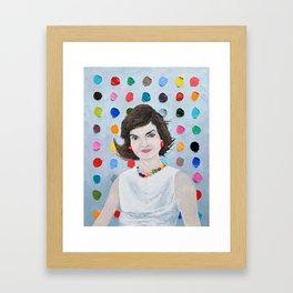 Polka Daub Jackie O Framed Art Print