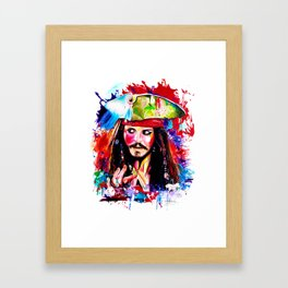 Captain Jack Sparrow Framed Art Print