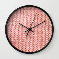 knit Wall Clocks featuring Knit by Melissa Jackson