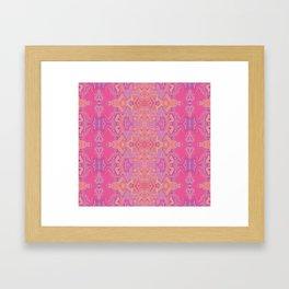 Mad pink marble 1 Framed Art Print