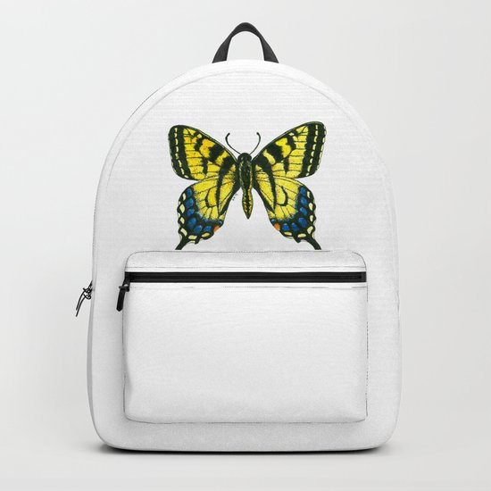 Tiger swallowtail butterfly watercolor and ink art, watercolor butterfly, eastern tiger swallowtail Backpack