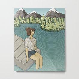 Lake Time Metal Print