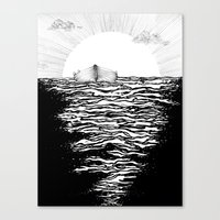 Canvas Prints featuring Abandoned to the Sun by ECMazur