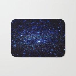 Dark Blue Stars Bath Mat