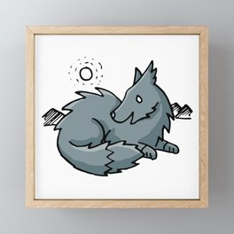 The Moon Is My Friend Framed Mini Art Print