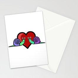 Snail Couple Stationery Cards