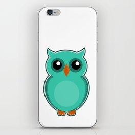 Green Owl iPhone Skin