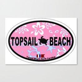 Topsail Beach - North Carolina. Canvas Print