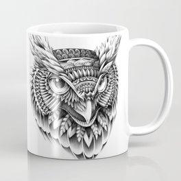 Ornate Owl Head Coffee Mug