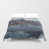 pittsburgh Duvet Covers featuring Pittsburgh, PA by Chase Hunter