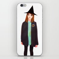 hermione iPhone & iPod Skins featuring Hermione Granger by Lenas 9th Art
