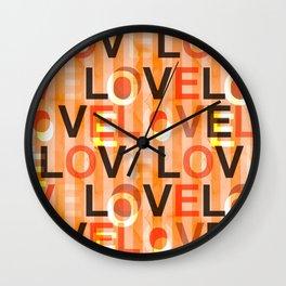 Orange Love Wall Clock