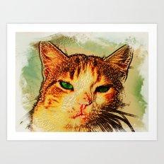 -hypnotize- LOOK AT MY EYES.. Art Print