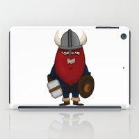 karl iPad Cases featuring Viking Karl by ericbennettart