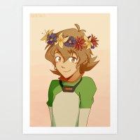 Flower Crown Pidge Art Print