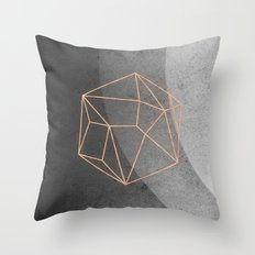 Geometric Solids on Marble Throw Pillow