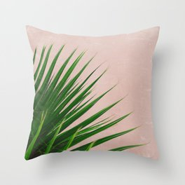 Summer Time | Palm Leaves Photo Throw Pillow