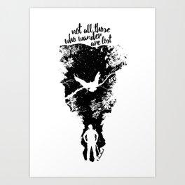 Not Lost Art Print