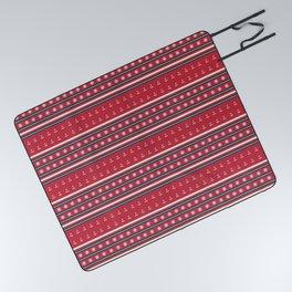 Ships Ahoy Red/Blue Stripe Picnic Blanket
