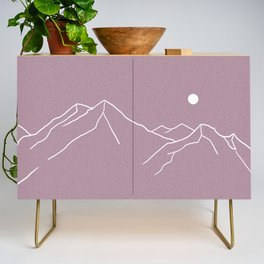 Mountains and Forest at Dusk Credenza
