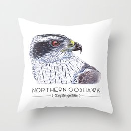 Northern Goshawk Throw Pillow