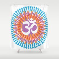 om Shower Curtains featuring Om by WeedPornDaily