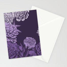 VIOLET FLORAL SYMPHONY Stationery Cards
