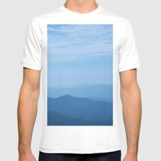 Blue Ridge Mountains MEDIUM Mens Fitted Tee White