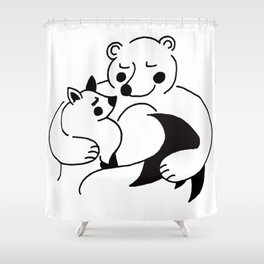 YOU'RE MY WARMTH Shower Curtain