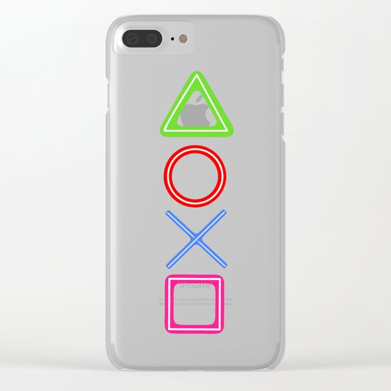 Neon Buttons Clear iPhone Case