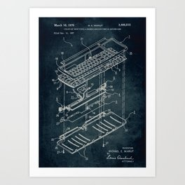 1967 - Chain of mounting a electrical keyboard patent art Art Print