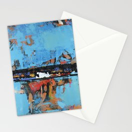 Stallion Blue Modern Painting Abstract Art Landscape Stationery Cards