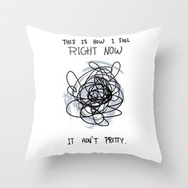 This Is How I Feel Right Now...It Ain't Pretty. Throw Pillow