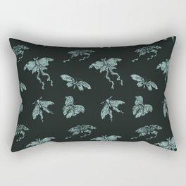 Jade Butterflies Rectangular Pillow