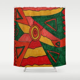 Warm Colours Shower Curtain