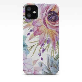 FLOWERS WATERCOLOR 19 iPhone Case