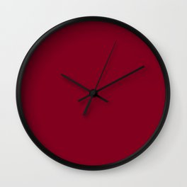 deep dark red or burgundy Wall Clock