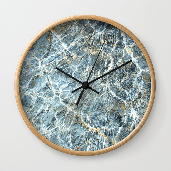 Blue Water Waves Wall Clock