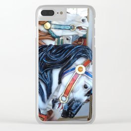 Carousel Horses Carnival Merry Go Round Horses Clear iPhone Case