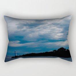 Lighthouse Storm Rectangular Pillow