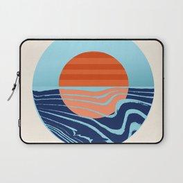 Sweetness - retro minimal 70s style throwback sunset sunrise ocean socal art Laptop Sleeve